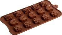Форма для шоколада, изомальта «цветы», 15 ячеек