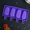Форма для леденцов и мороженого «Эскимо в глазури», 4 ячейки, цвет МИКС