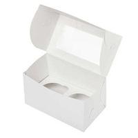 Коробка для 2 капкейков с окном
