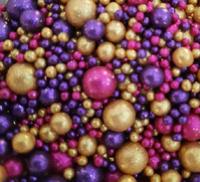 Посыпка Сахарные блестящие шарики разного диаметра микс 212 не жесткие, 100гр
