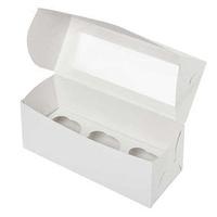 Коробка для 3 капкейков с окном