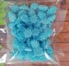 сахарные фигурки мини-безе голубые (размер 1см)