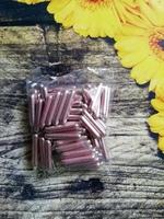 Палочки сахарные розовые 84