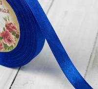 Лента атласная, 10мм, 23±1м, цвет синий