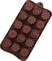 Форма для шоколада, изомальта «цветы2», 15 ячеек
