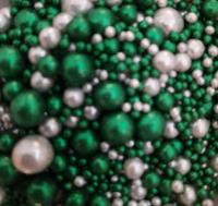 Посыпка Сахарные блестящие шарики разного диаметра микс 208 не жесткие, 100гр
