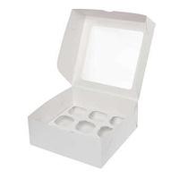 Коробка для 9 капкейков с окном