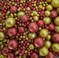 Посыпка Сахарные блестящие шарики разного диаметра микс 211 не жесткие, 100гр