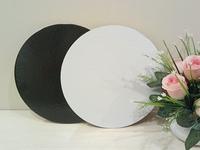 Подложка усиленная 26см, толщина 3,2мм, цвет черный-жемчуг