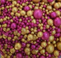 Посыпка Сахарные блестящие шарики разного диаметра микс 219 не жесткие, 100гр