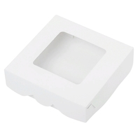 Коробка 12*12*3см белая с окном