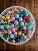 Посыпка Сахарные шарики разного диаметра микс 40 не жесткие, 100гр