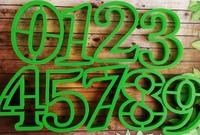 Цифры для пряников, высота 8см, набор