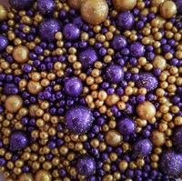 Посыпка Сахарные блестящие шарики разного диаметра микс 216 не жесткие, 100гр