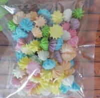 сахарные фигурки мини-безе разноцветные (размер 1см)