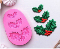 Молд силиконовый «новогодний», 9×5,5 см, цвет микс