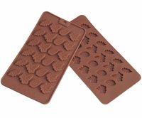 """Силиконовая форма для шоколада, мастики, изомальта """"листики"""""""