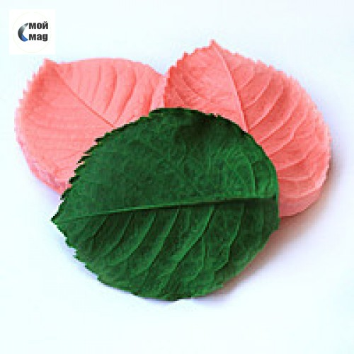 """Вайнер силиконовый  """"Листок розы"""" 8х6см"""