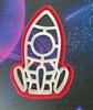 """Форма для пряника с оттиском """"ракета"""" цв. микс"""