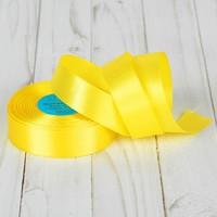 Лента атласная, 25 мм × 23 ± 1 м, цвет жёлтый