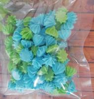 сахарные фигурки мини-безе зелено-голубые (размер 1см)
