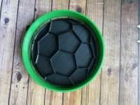 """Форма для пряника """"футбольный мяч"""" вырубка + штамп цв. микс"""