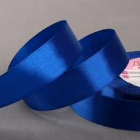 Лента атласная, 25 мм × 23 ± 1 м, цвет синий