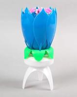 Свеча для торта музыкальная, синяя