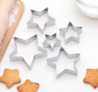 Набор форм для вырезания печенья «Звёздочки», 5 шт, 9×9×2 см