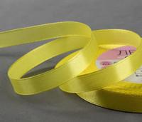 Лента атласная, 10 мм × 23 ± 1 м, цвет жёлтый