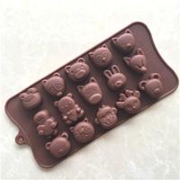 """Силиконовая форма для шоколада, мастики, изомальта """"мордашки"""""""