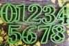 Цифры для пряников, высота 7см, набор, цв. микс