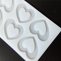 """силиконовый молд для изомальта и шоколада """"сердце """" размер 4.5х5.5см"""