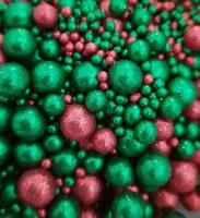 Посыпка Сахарные блестящие шарики разного диаметра микс 206 не жесткие, 100гр
