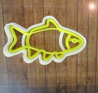 """форма для пряников с оттиском """"рыбешка"""" цв. микс"""