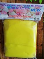Сахарная мастика Фанси желтая 500гр