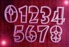 """Формы для пряников """"цифры"""" цв. микс, шрифт мультик 8.5см, набор"""