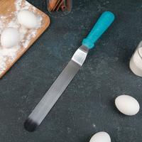 Лопатка-палетка изогнутая, с пластиковой ручкой, 36 см, рабочая часть 25 см