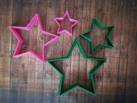 """Форма для пряника """"звезды остроконечные"""" цв. микс, набор от 4 до 10см"""