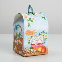 Коробка  «Кулич», 16,5 × 14,5 × 21 см