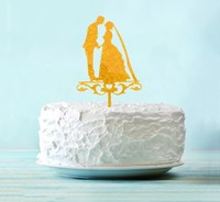 """Топпер в торт """"Молодожёны"""""""