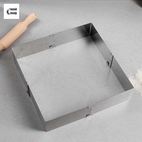 Форма для выпечки с регулировкой размера «Квадратная», 16-28 х 6,5 см