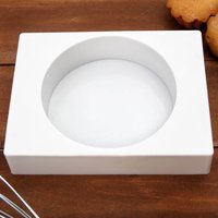 Форма для муссовых десертов «Круг», диам.14,5 см, высота 4см,  цвет белый
