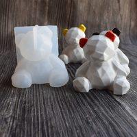 Силиконовая форма для шоколада 3D «мишка граненный»