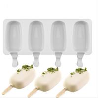 "Форма для мороженого ""Эскимо стандарт"", 4 ячейки, цвет микс."