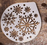 Трафарет  «Снежинки» 9.5 × 8.5 см