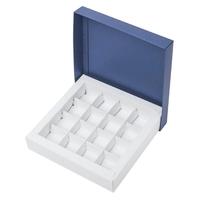 Коробка для 16 конфет темно синяя