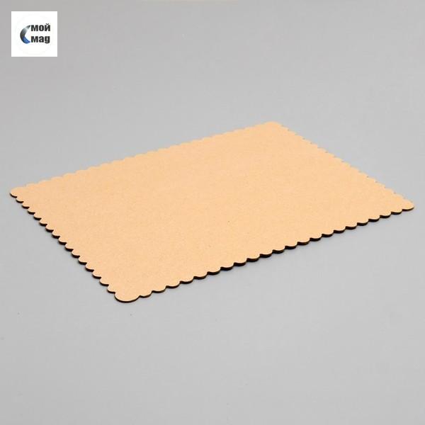 Подложка прямоугольная, золото, 30 х 40 см, 2,5 мм, волнистая