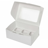 Коробка для 6 капкейков с окном