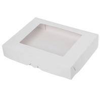 Коробка 29*23*5см белая с окном